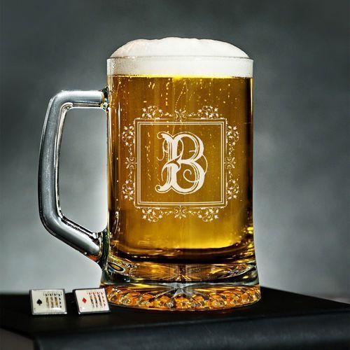 Mygiftdna Monogram - personalizowany kufel - kufel do piwa