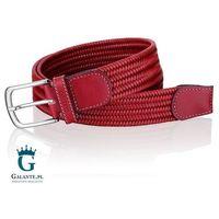 Czerwony pleciony ze skóry pasek do spodni męski miguel bellido 935-35-8886-12-013