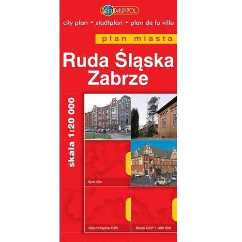Ruda Śląska. Zabrze. Plan miasta w skali 1:20 000 - Praca zbiorowa (2 str.)