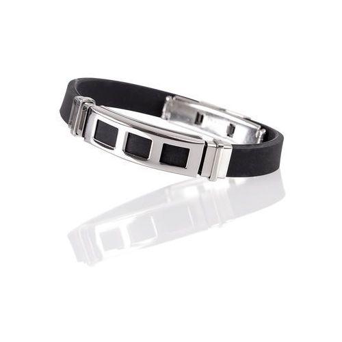 Bransoletka magnetyczna inSPORTline Norbo, 21.50 cm, Czarno-srebrny, kolor czarny