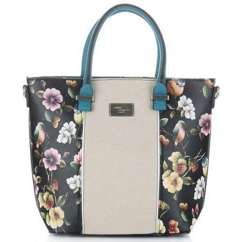 01dbb5b9cf29d Unikatowe torebki damskie kuferek w kwiaty czarny (David Jones ...