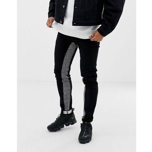 9a50c3c7d107 Zobacz ofertę Liquor N Poker slim fit jeans with heritage print inside  stripe in black - Black