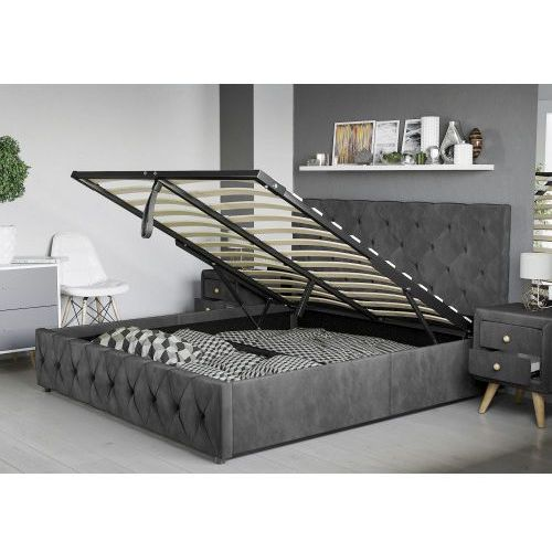 łóżko Tapicerowane Do Sypialni 140x200 Sfg007 Welur Meblemwm
