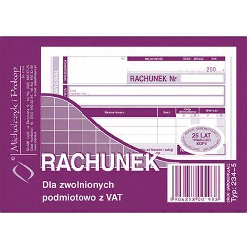 Rachunek dla zwol. podmiot. z Vat Michalczyk&Prokop 234-5 - A6 (oryginał+kopia) (5906858001938)