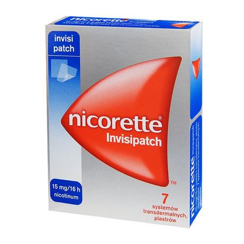 Plaster Nicorette Invisipatch 15mh/16h *7plastrów
