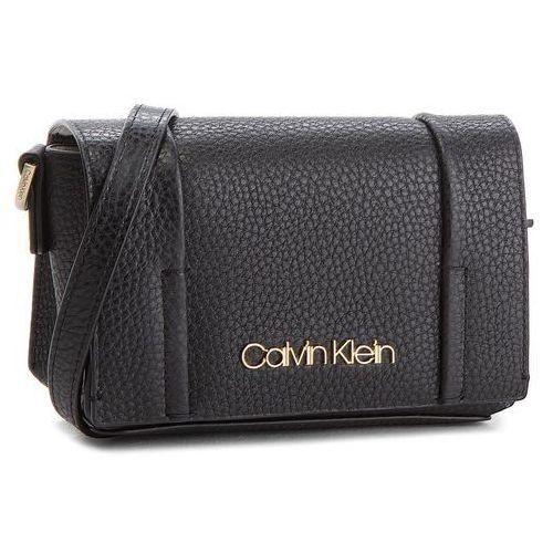 Torebka City Leather Sml Fla K60K604481 001, kolor czarny (Calvin Klein)