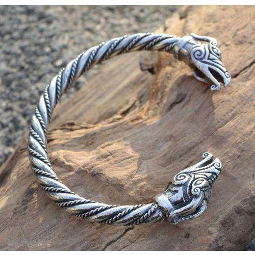 Płatnerze Bransoleta celtyckie smoki srebro sbr301