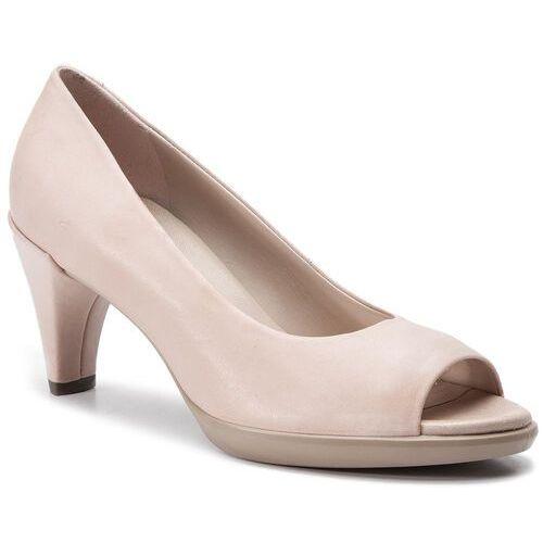 Półbuty ECCO - Shape 55 Peep Toe Sleek 26830302118 Rose Dust, kolor beżowy