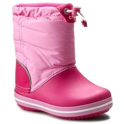 Śniegowce CROCS - Crocband Lodgepoint Boot K 203509 Candy Pink/Party Pink, kolor różowy