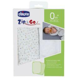 prześcieradło dla zip & go, light grey (2szt.) marki Chicco