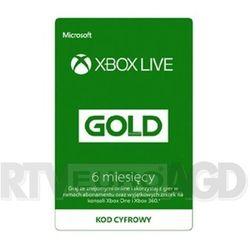 Subskrypcja xbox live gold (6 m-ce) [kod aktywacyjny] marki Microsoft