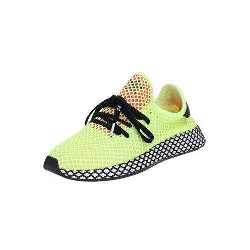 Adidas originals trampki niskie 'deerupt runner' neonowo-żółty / czarny