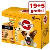 19 + 5 gratis! Pakiet Pedigree Saszetki, 24 x 100 g - W sosie| Darmowa Dostawa od 89 zł i Super Promocje od zooplus! (5900951262692)