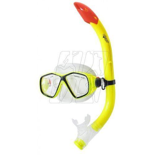 Zestaw do nurkowania Allright Temisto Junior maska + fajka żółty