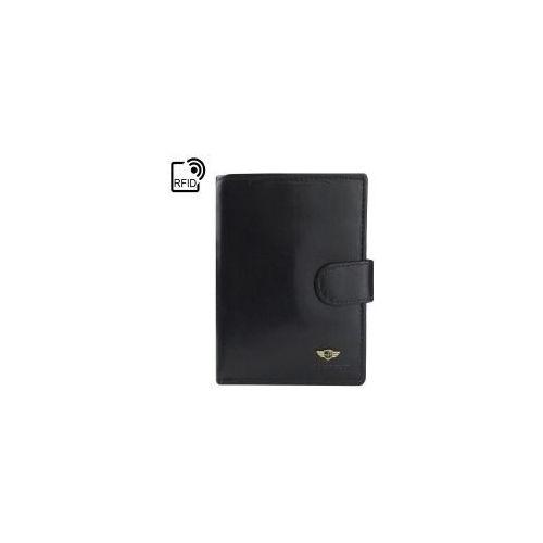 d8e4f322fc462 Czarny męski portfel skórzany 301-Z-RFID-2-1-1 (PETERSON) - sklep ...
