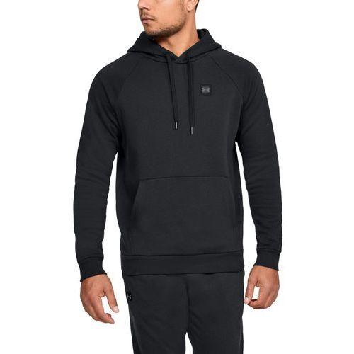 bluza z kapturem rival fleece po hoodie czarna - czarny marki Under armour