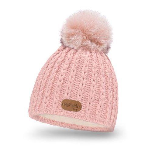 Pamami Zimowa czapka dziewczęca - pudrowy róż - pudrowy róż (5902934023849)