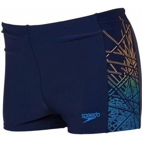 Kąpielówki Speedo Logo PNL Asht Jm niebieskie, kolor niebieski
