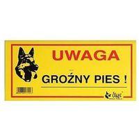 """Dingo tabliczka ostrzegawcza """"uwaga groźny pies!"""""""