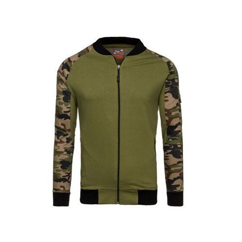 Bluza męska bez kaptura moro-zielona denley 0443 marki Athletic