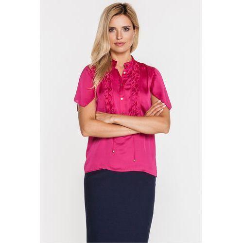 Różowa bluzka z jedwabiem - Duet Woman, kolor różowy