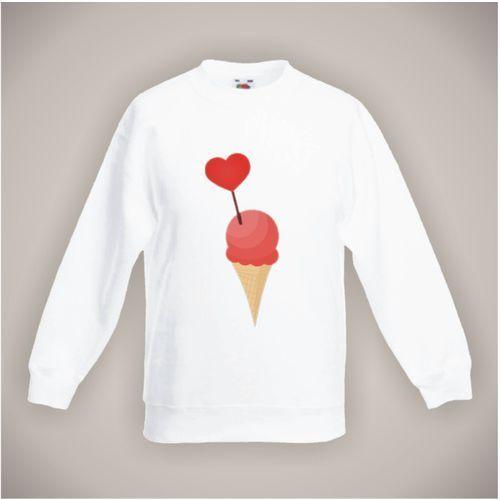 Bluza z apetycznym lodem, kolor biały