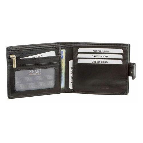 Portfel Męski Skórzany RFID Karty Monety Dowód Rejestracyjny Czarny (5902730820963)