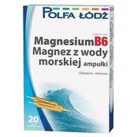 Ampułki MAGNESIUMB6 Magnez z wody morskiej 10ml x 20 ampułek