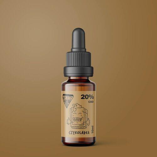 Crossfix sp. z o.o. Olej cbd cannabefit 20% 2000mg 10ml czekoladowy