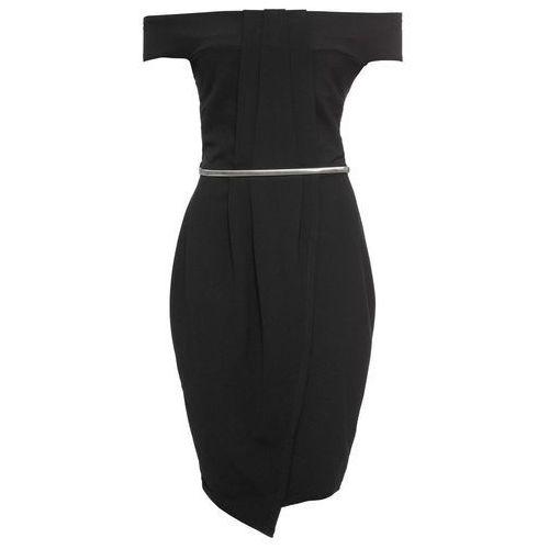 Bonprix Sukienka z paskiem czarny