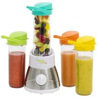 Bestron Blender Smoothie Maker AFM400 z 4 pojemnikami fitness (8712184044504)