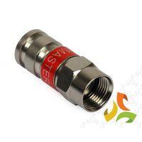 Złączka, Złącze F 59 kompresyjne wodoszczelne do kabli F-59 DIPOL, E80322/DIP