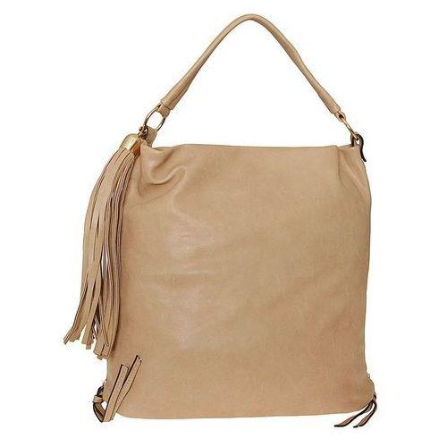 ca36b3d2a6060 ▷ Duża miękka torebka worek beżowa z regulacją wielkości - beżowy ...