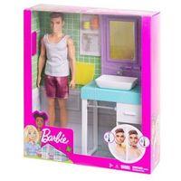 Lalka barbie ken łazienka zestaw marki Mattel