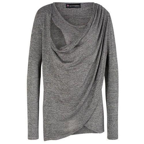 Sweter ciążowy i do karmienia bonprix czarno-biały melanż, kolor czarny