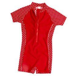 jednoczęsciowy strój kąpielowy kolor czerwony, kropki marki Playshoes