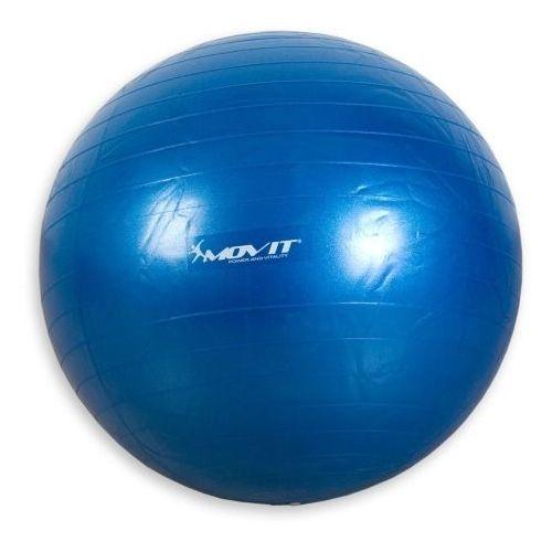 Niebieska piłka fitness rehabilitacyjna 75cm pompa - 75 cm / niebieski Movit ®