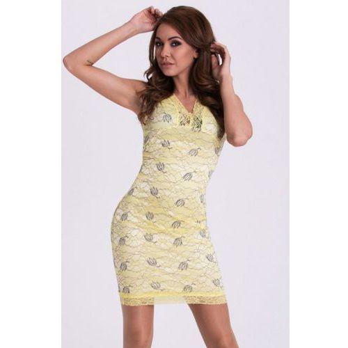 Sukienka - cytrynowy 15001-2, Emamoda