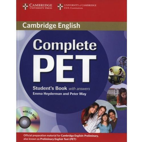 Complete PET Student`s book with answers + Cd-Rom, oprawa miękka
