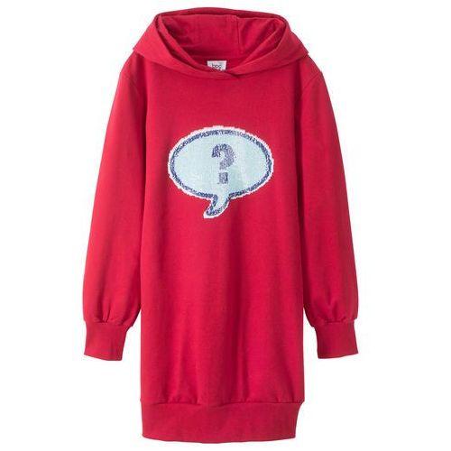 03a4d716df Zobacz ofertę Bonprix Sukienka dziewczęca dresowa z dwustronnymi cekinami  wow ciemnoczerwony