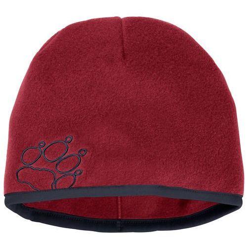 Czapka zimowa dla dzieci BAKSMALLA FLEECE HAT KIDS dark lacquer red - M, kolor czerwony
