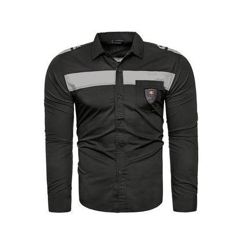 Koszula męska długi rękaw style209 - czarna, KOSZULA (RL07) - BIAŁY