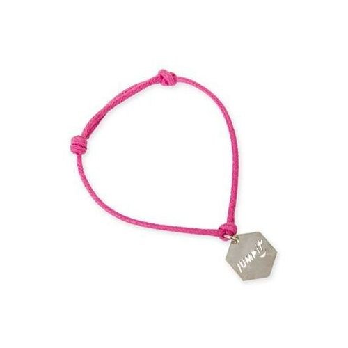- różowa bransoletka z zawieszką + woreczek - różowy marki Jumpit