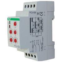 Przekaźnik czasowy PCU-520 230V uniwersalny ; zakres czasowy 0,1s÷24h ; Un=230V~ ; Io<2×8A ; montaż na szynie TH-35 PCU-520