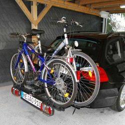 Eufab Składany bagażnik na rowery poker-f uchwyt na hak + torba