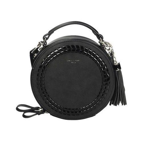 861c83472a450 Okrągła torebka listonoszka w kolorze czarnym CM 4037 (David Jones ...