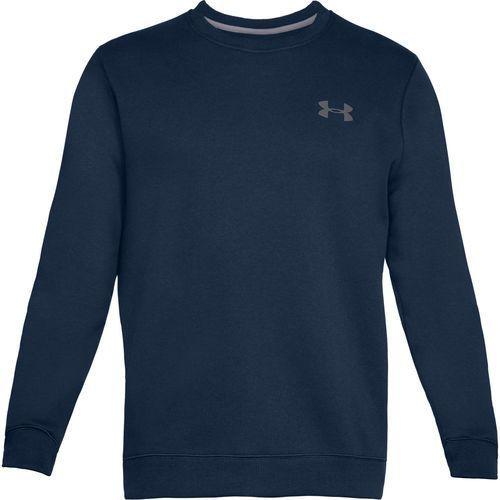bluza bez kaptura rival solid fitted crew granatowa - granatowy marki Under armour