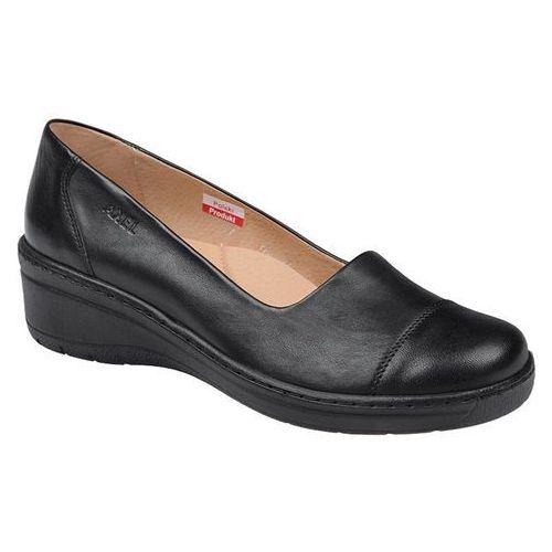 Półbuty comfort 1601 czarne na haluksy buty na koturnie marki Axel