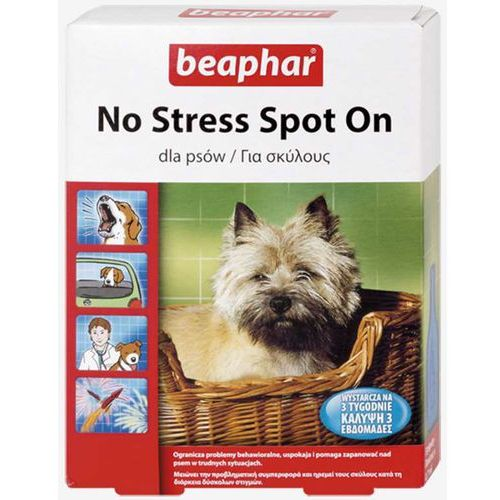 Beaphar No Stress Spot On Krople uspokajające dla psa 3x0.7ml
