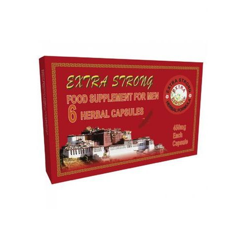 Extra strong for men 6 kaps. bardzo mocna tabletka na potencję 420018 marki Scala